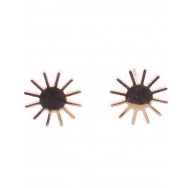 Boucles d'oreilles Acier petits soleils Lolilota-Or