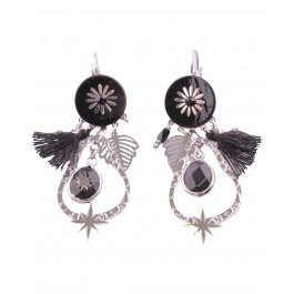 Boucles d'oreilles LOL acier Flaquiflori-Noir
