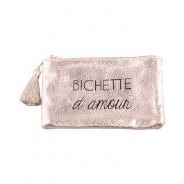 Petite pochette coton Bichette d'amour-Or