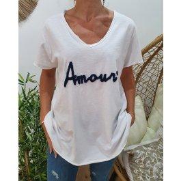 T-Shirt oversize Amour-Bleu