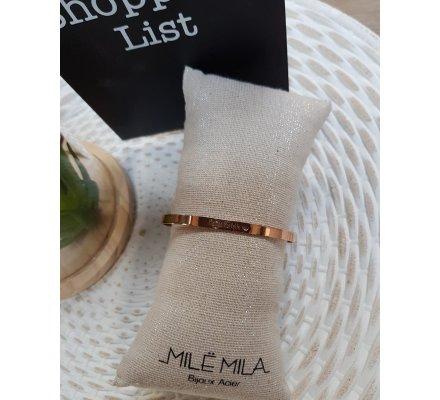 Bracelet acier rose gold MYLE MYLA jonc Maman parfaite