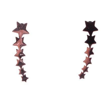 Boucles d'oreilles MILE MILA acier cuivré étoiles filantes
