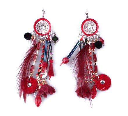 Boucles d'oreilles LOL rouges Laurieris