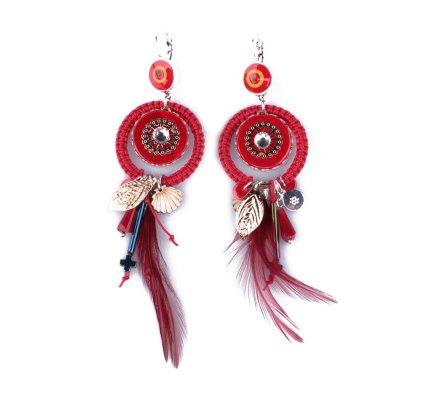 Boucles d'oreilles LOL rouges Iriplumi