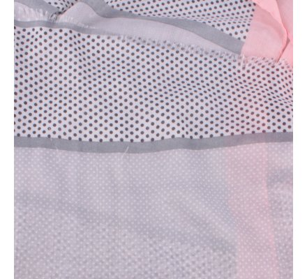Echarpe à pois grise blanche rose Bandipi