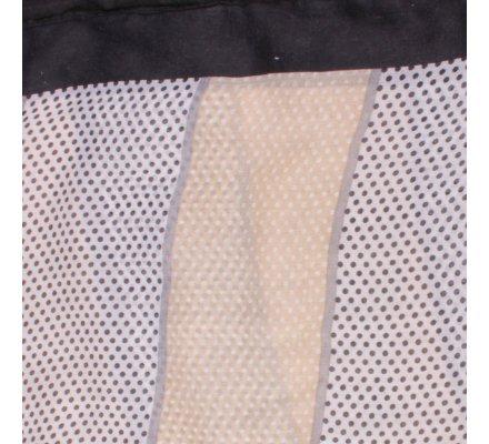 Echarpe à pois noire blanche beige Bandipi