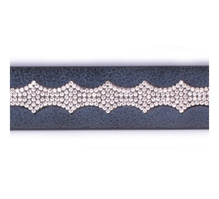 Ceinture bleue marine vague de strass