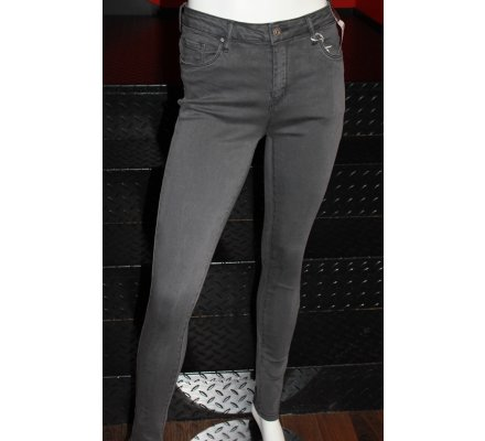 Pantalon gris foncé skinny taille haute