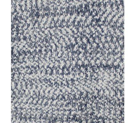 Gilet chiné maille douce bleu et blanc