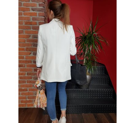 Veste tailleur unie blanche