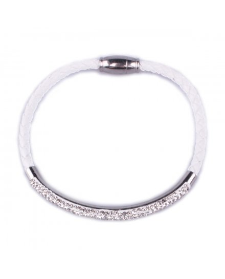 Bracelet MYLE MYLA tresse jonc strass acier inoxydable