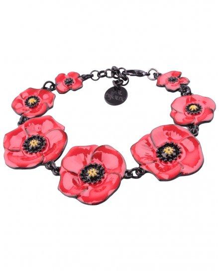 Bracelet LOL coquelicots rouges