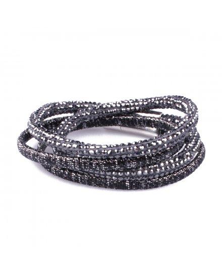 Bracelet LOL multirangs Serpentistrass