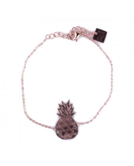 Bracelet MILE MILA acier ananas graphiques
