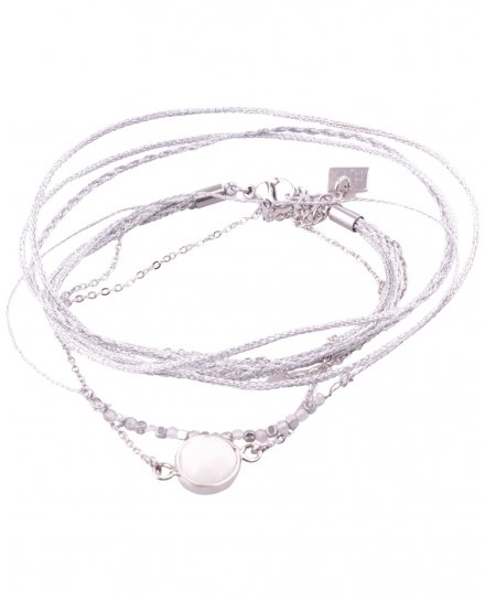 Bracelet MILE MILA Médaillon perlé argent