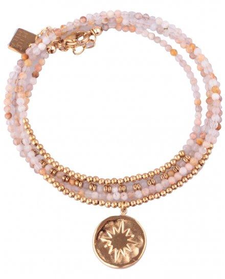 Bracelet MILE MILA doré et rosé pastille solaire
