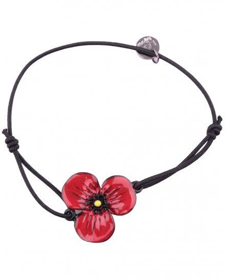 Bracelet LOL élastique coquelicot rouge trois pétales