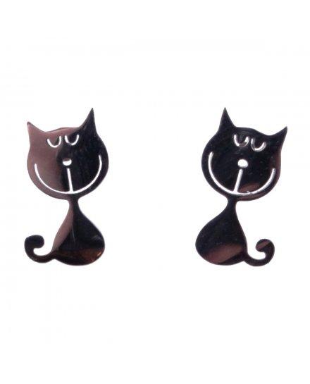 Boucles d'oreilles acier petits chats