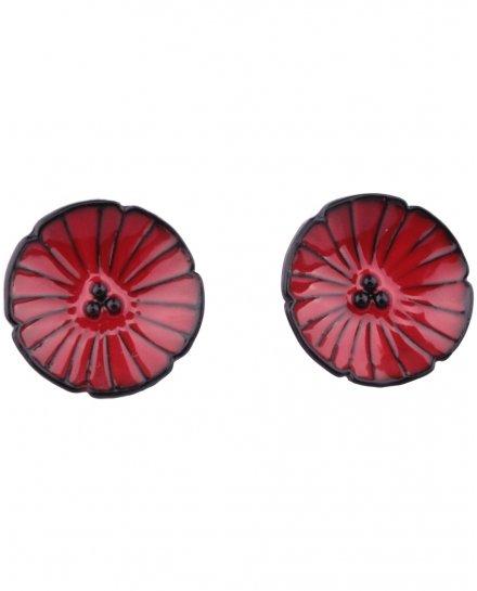 Boucles d'oreilles LOL coquelicots rouges pavot
