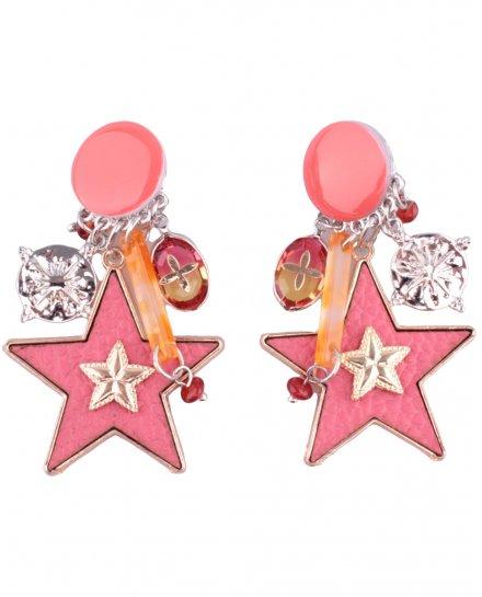 Boucles d'oreilles LOL à clips étoiles suspendues