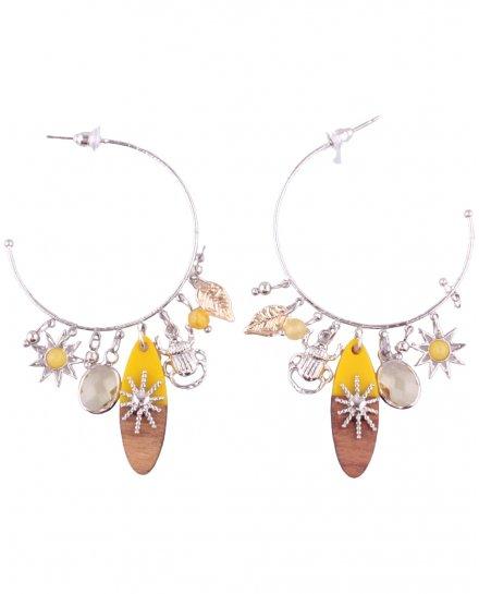 Boucles d'oreilles LOL Anneaux totems et perles