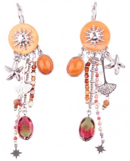 Boucles d'oreilles LOL oranges Solamare