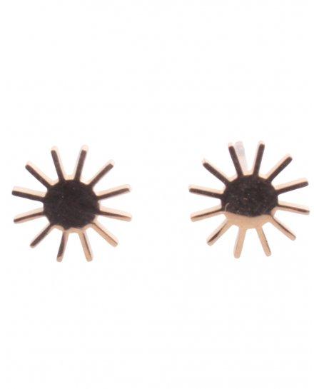 Boucles d'oreilles Acier petits soleils Lolilota