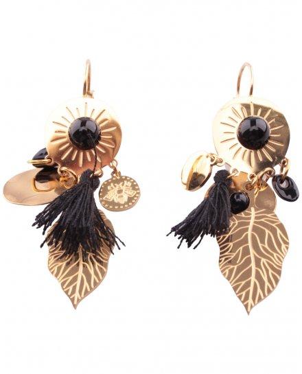Boucles d'oreilles dorées LOL acier Automnia