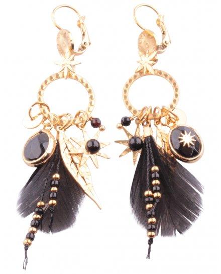 Boucles d'oreilles acier Constellaplumi
