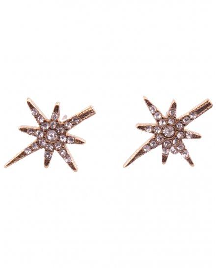 Boucles d'oreilles acier étoile brillante