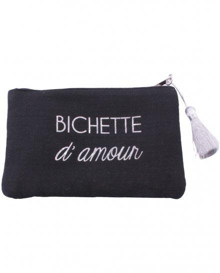 Petite pochette coton Bichette d'amour