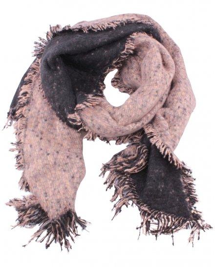 Grosse écharpe bicolore chiné