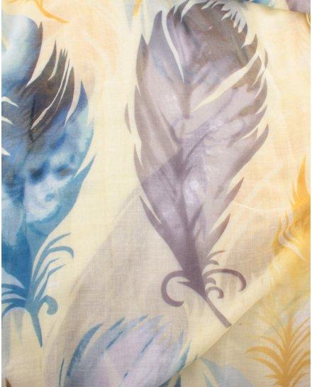 Echarpe à plumes
