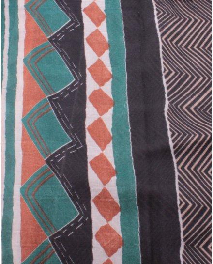 Echarpe motifs ethniques rayures et losanges