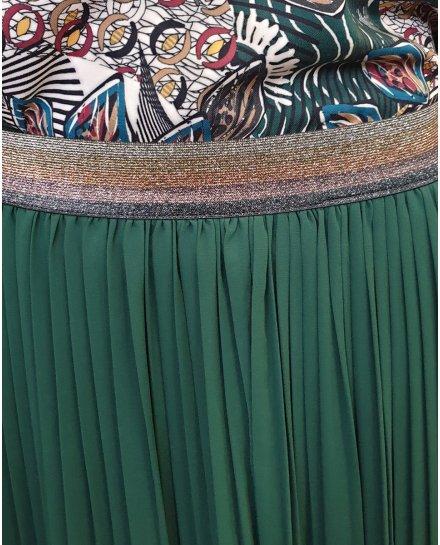 Jupe longue plissée élastique pailleté