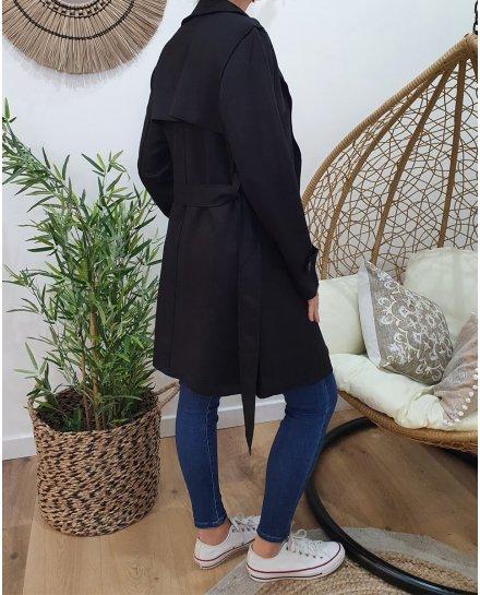 Manteau trench noir