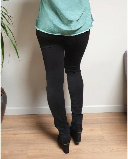 Pantalon noir taille haute coupe confort