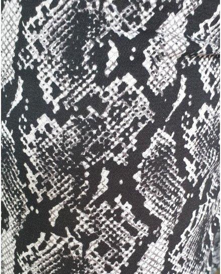Pantalon python slim noir et gris 7/8