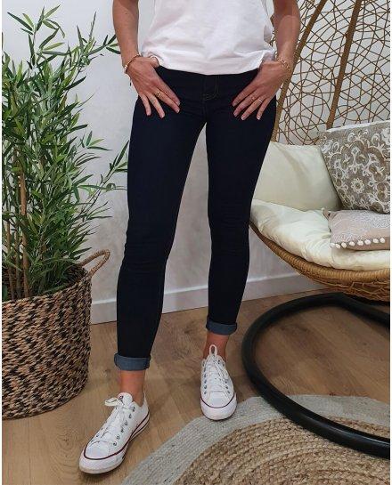 Jean brut skinny taille haute
