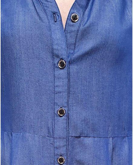 Robe chemise effet jeans soyeuse