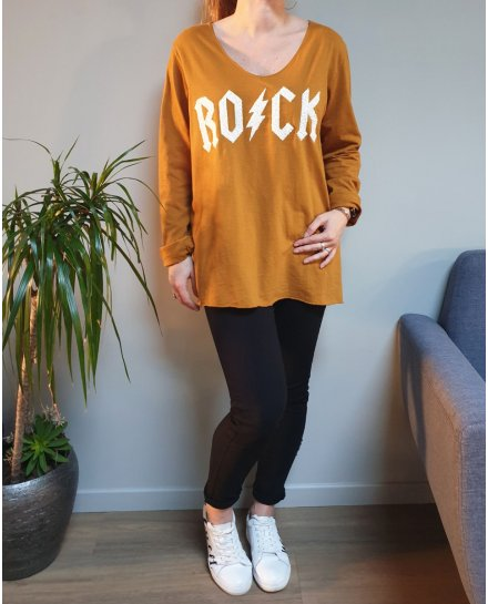 T-Shirt oversize ROCK eclair