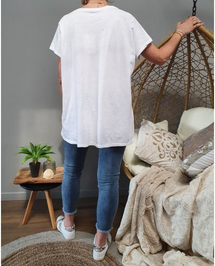 T-Shirt oversize imprimé baskets