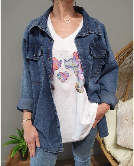 Chemise en jeans grande taille