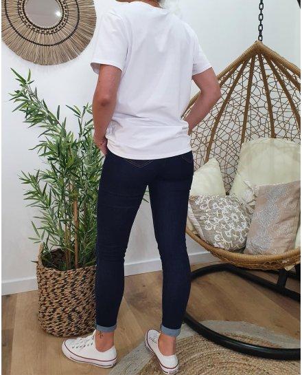 T-Shirt Mademoiselle en baskets col V