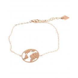 Bracelet MILE MILA Globe terrestre acier doré