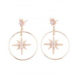 Boucles d'oreilles LOL anneaux étoiles suspendues dorées