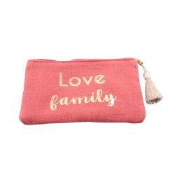 Pochette LOL Love family et pompon-Or