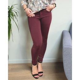 Pantalon slim prune taille haute