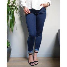 Jeans slim brut bleu foncé taille haute push up