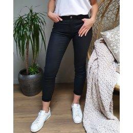 Pantalon similicuir noir slim push up